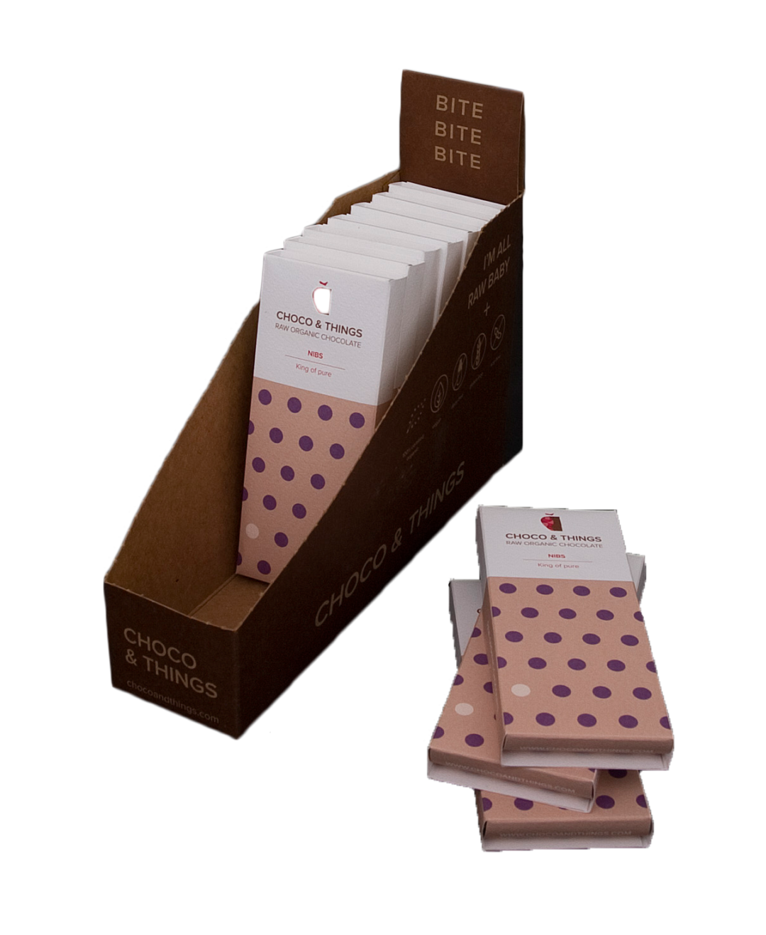 Chocolade in display